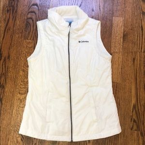 Columbia Fleece lined vest white size small